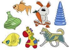 儿童` s玩具集合 图库摄影