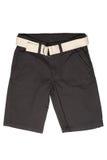 儿童` s穿戴-斜纹布短裤 免版税图库摄影