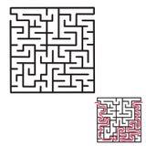 儿童` s迷宫比赛 库存照片
