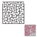 儿童` s迷宫比赛 免版税库存图片