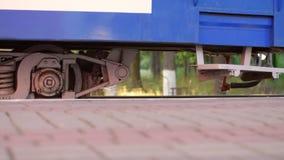 儿童` s铁路充分的HD录影水平的全景检查站  影视素材