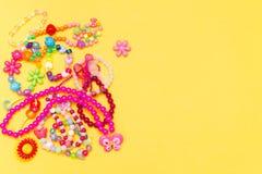 儿童` s首饰,暑假概念 免版税库存图片