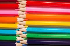 儿童` s画的颜色铅笔 免版税库存图片