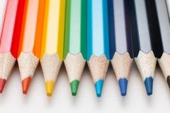 儿童` s画的颜色铅笔 免版税库存照片