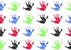 儿童handprints s 免版税库存照片