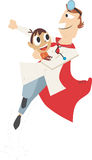 儿童superdoctor 免版税库存照片