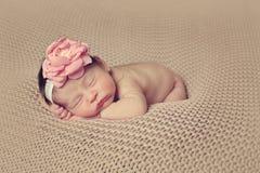 婴儿被摆在的睡觉 免版税库存照片