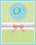 婴儿送礼会卡片模板 向量例证