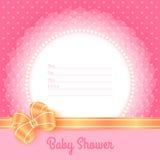 婴儿送礼会的卡片模板 库存图片
