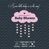 婴儿送礼会的女婴邀请 向量例证