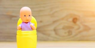 婴儿送礼会装饰-它是女孩或它是男孩 库存照片