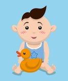 婴儿送礼会设计 免版税库存照片