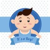 婴儿送礼会设计 库存照片