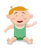 婴儿送礼会设计 库存图片