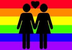 允许同性的婚姻 库存图片
