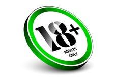 允许的标志对里面的18岁与等量常设对象 免版税库存照片