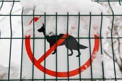 允许的狗没有符号 免版税图库摄影