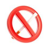 允许的禁止的不是符号抽烟 免版税库存照片