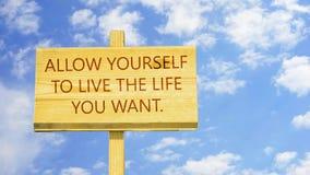 允许自己有您要的生活 股票视频