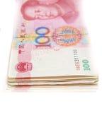 100元中国货币 免版税库存照片