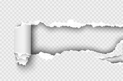 元素透明设计模板被撕毁的纸 免版税库存照片