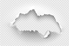 元素透明设计模板被撕毁的纸 库存照片