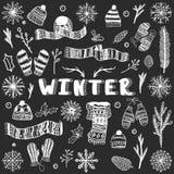 元素集冬天 免版税库存图片
