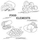 元素食物艺术 图库摄影