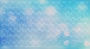 元素的周期表深蓝背景  免版税图库摄影