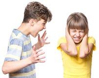 兄弟和姐妹纵向 免版税图库摄影