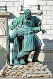 兄弟在胳膊雕塑在布达佩斯,匈牙利 库存图片