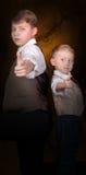 兄弟探员喜欢合作伙伴二 免版税库存图片