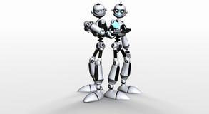 兄弟机器人 库存例证