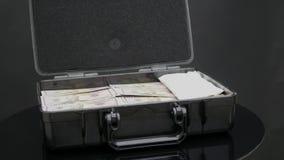充分关闭盒的自转一百万美元 股票录像