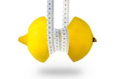充分减肥健康柠檬维生素的果子 免版税库存照片