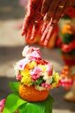充分印地安婚礼文化和传统 免版税图库摄影