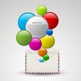 充分向量信包五颜六色的泡影 免版税图库摄影
