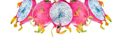 充分和半删节的龙果子的构成 库存图片