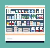 充分商业冰箱乳制品 皇族释放例证