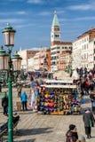 充分商店面具威尼斯durin狂欢节2018年 免版税库存照片