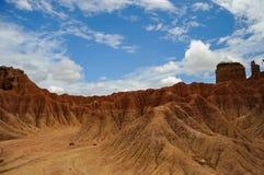 充分地方颜色在Tatacoa沙漠 库存照片