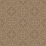 充分地被填装的花n瓣设计在咖啡口气的无缝的样式背景例证 向量例证