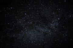 充分夜空星,无云的背景 免版税库存照片