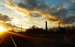 充分天空从Straseni市的云彩 免版税库存图片