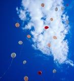 充分天空Baloons #6 免版税库存照片