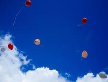 充分天空Baloons #1 免版税库存图片