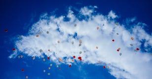 充分天空Baloons #4 库存照片