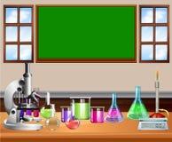 充分教室科学设备 库存例证