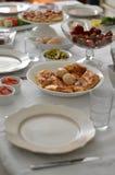早餐桌 免版税图库摄影