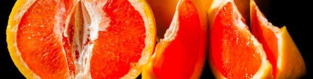 充分水多的果子柚,健康和自然快餐维生素 免版税库存图片